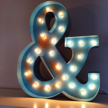 Vintage Marquee Lights - CHOOSE LETTER/COLOR
