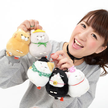Hige Manjyu Tabi Cat Plush Collection (Ball Chain)