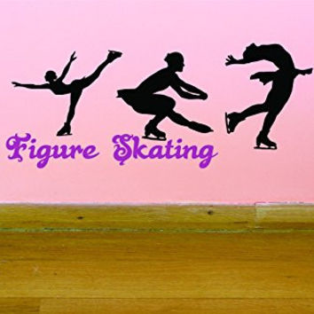 "Design with Vinyl JER 287 1 Pro Skater World Professional Figure Ice Skating Championships Quote Picture Art Vinyl Wall Decal Sticker, 10"" x 20"""