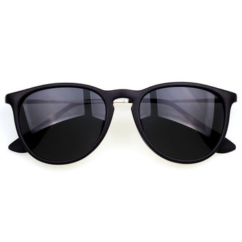Matte Black Cat-Eye Sunglasses