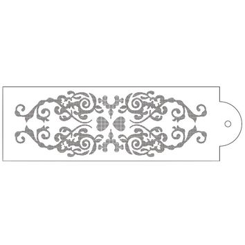 Crown Flower Vine Reusable Stencil Airbrush Painting Art Cake Spray Mold DIY Decor Crafts