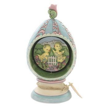 Jim Shore STROLLING THROUGH SPRING Polyresin Hand Painted 6003625