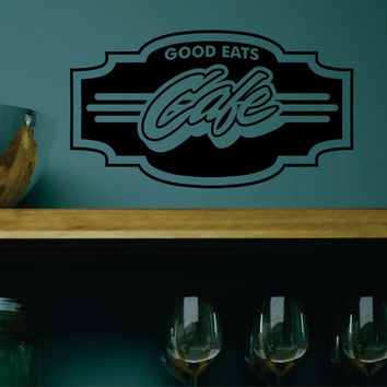 Cafe Good Eats Vinyl Decal FREE SHIPPING