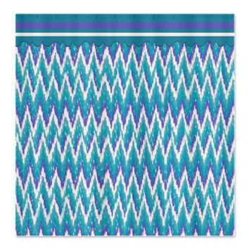 iKat ZigZag Purple Turquoise Shower Curtain> Shower Curtains> CLICK HERE-4 LOWER PRICES-GetYerGoat.com