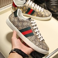 GUcci Men Fashion Boots  fashionable casual leather  Breathable Sneakers Running Shoes Sneaker
