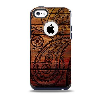 The Tattooed WoodGrain Skin for the iPhone 5c OtterBox Commuter Case