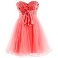 Dresstells® Sweetheart Cocktail Short Prom Dress Homecoming Dress with Sash