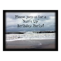 """Surf's Up"" Birthday Party Personalized Invites"
