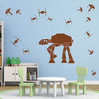 kik2727 Wall Decal Sticker Star Wars space ships nursery teenager