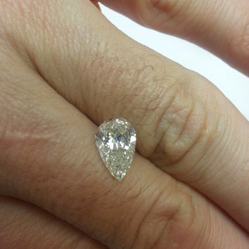 2 67 Carat Pear H Vs2 Diamond Engagement Ring 14k Solitaire Anniversary Certified Jewelry Free