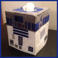 Star Wars R2D2 Tissue Box Cover by K8BitHero on Etsy