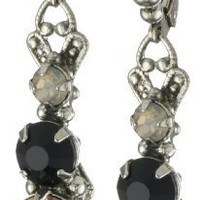 "Sorrelli ""French Blush"" Crystal Linear Dangle Silvertone Earrings"