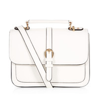 Rosie Top Handle Bag | White | Accessorize