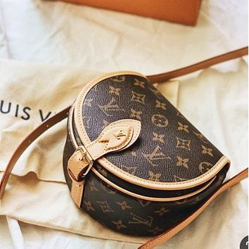 LV Louis Vuitton Women Shopping Bag Leather Crossbody Shoulder Bag
