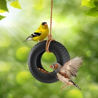 SWING TIME Tire Swing Bird Feeder