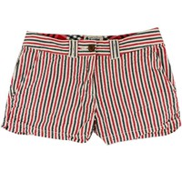 Women's Shorts in Red and Black Seersucker by Olde School Brand - FINAL SALE