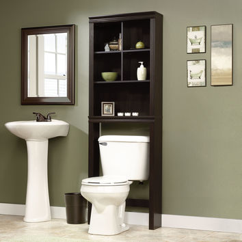 "Sauder Peppercorn 23.31"" x 68.58"" Over the Toilet Cabinet"