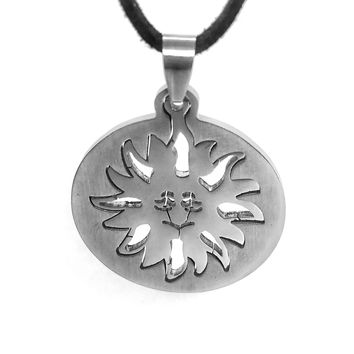 ON SALE - Sunny 2 Piece Cut-Out Stainless Steel Puzzle Pendant