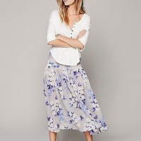 Free People Womens Rosalita Printed Maxi - Ivory