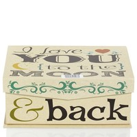 Love To The Moon & Back Decorative Box - Small 610633661
