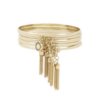 Chained To My Heart Tassel Bangles in Grey - BCBGeneration