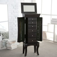 Contemporary Jewelry Armoire | www.hayneedle.com