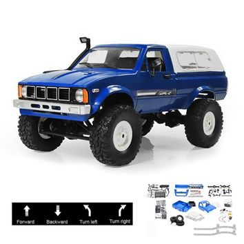 WPL C24 2.4G DIY RC Car KIT Remote Control Toys RC Crawler 4WD Off-Road Buggy Moving Machine Kids Toys Battery Powered RTR Gifts