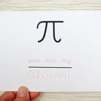 "Cute Valentine. Valentines Day Card. ""You are my constant."""