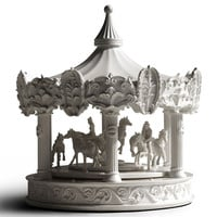 Merry-Go-Round Carousel Clock - A+R Store