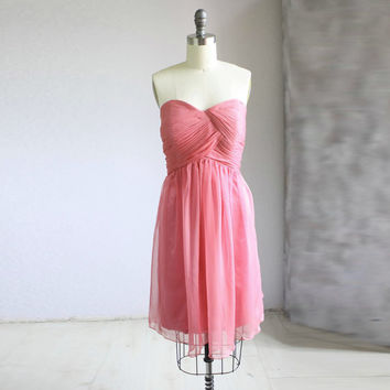 Bridesmaid Dress/SWEETHEART party dress/red strapless by FM908
