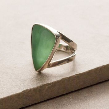 Gem Silica Chrysocolla Ring - One Of A Kind - 6.8cts