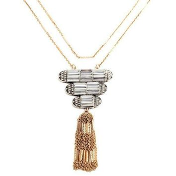 Parker Layered Long Necklace w/ Tassel