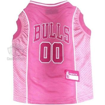 PEAPYW9 Chicago Bulls Pink Pet Jersey