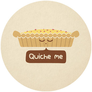 Teo Zirinis's Quiche Me Circle Decal