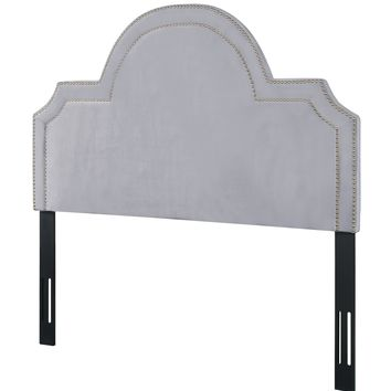 Laylah Queen Headboard in Grey Velvet