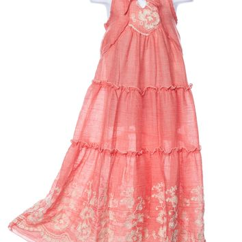 Isobella and Chloe Coral Sweetwater Maxi