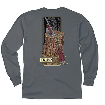 Shotgun Long Sleeve T-Shirt in Pepper by Fripp Outdoors
