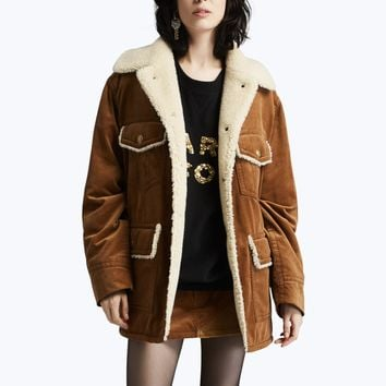 Oversized Corduroy Patch Pocket Coat | Marc Jacobs