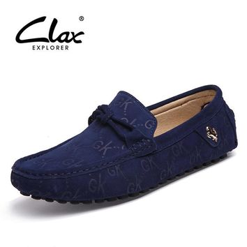 Clax Casual Men's Loafers Designer Flat Shoes Slip On Lofer Fashion Moccasin Male Bran