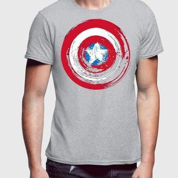 Captain America Shield 3 Half Sleeve Men T-Shirt