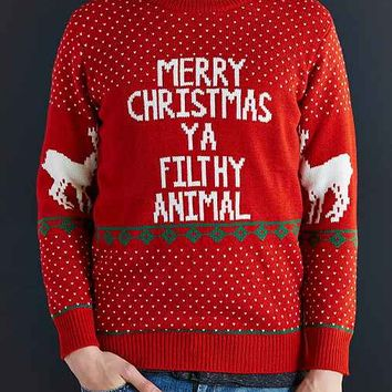 Filthy Animal Crew Neck Sweater- Red