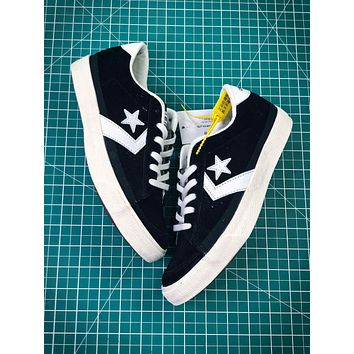 Converse Canvas Chevronstar Ox Black White Shoes