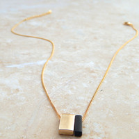 Noir & Gold Necklace