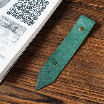 Leather Bookmarks #Dark Green