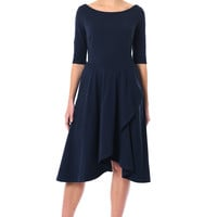 Tulip hem cotton knit dress