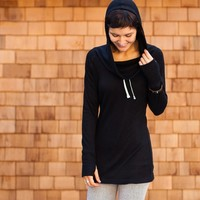 Black Cowl Neck Tunic | Women's Sweater | Betabrand