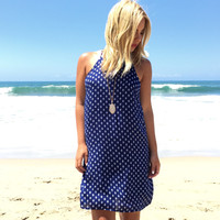 Path To Enlightenment Shift Dress In Navy