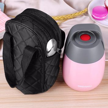 Lunch Pail Food Container Stainless Steel Food Flasks With Bag Dinnerware Vacuum Insulated Thermal