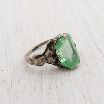 best antique peridot ring products on wanelo