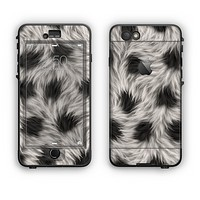 The Dotted Black & White Animal Fur Apple iPhone 6 Plus LifeProof Nuud Case Skin Set